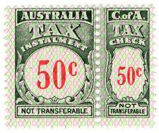 (I.B) Australia Revenue : Tax Instalment 50c