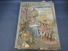 Ancien livres d'images d'Epinal contes choisis imagerie Pellerin début 20ème
