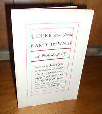 Signed First Edition ~ Three Texts From Early Ipswich: A Pageant by John Updike
