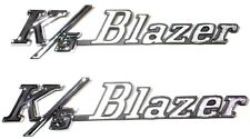 "1969 1970 1971 1972 Front Fender Emblems ""K/5 Blazer""  Chevy Blazer NEW Pair"