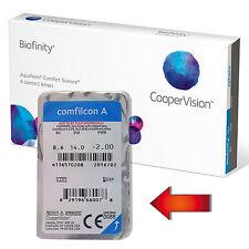 Biofinity AQUAFORM™ 2x Einzellinsen Kontaktlinsen NEU Cooper Vision Monatslinsen