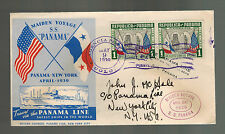 1939 Panama Line Maiden Voyage SS Panama Ship to USA with clippings