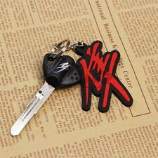 3D Soft Rubber Motorcycle Keychain Blade Uncut Key+Ring For Suzuki Hayabusa New
