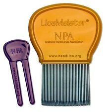 LiceMeister - Lice & Nit Removal Comb With Cleaning Tool Included