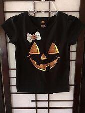 Cute Pumpkin Face Halloween Toddler/Infant Kids T-Shirt Sz. 5T/NP5