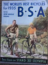 RARE VINTAGE 1934 BSA BICYCLE LEAFLET,FROM CYCLING MAG DATED 9.11.34,OPPY,TANDEM