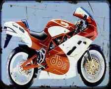 Bimota Db2 93 A4 Metal Sign Motorbike Vintage Aged