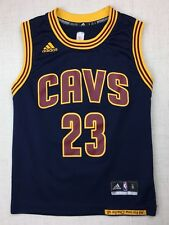 Adidas Lebron James Cleveland Cavaliers Cavs Youth Small Jersey Blue Kids