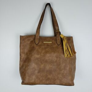 Steve Madden Large Tote Bag Faux Vegan Leather Hand Bag Womens
