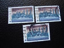 NORVEGE - timbre yvert et tellier n° 1054 x3 obl (A04) stamp norway (Y)