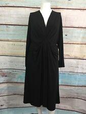 Michael Michael Kors Black Faux Wrap Ruched Dress Sz 18W
