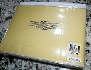 Bed Sheet 4-Pc Set 100% Cotton Gold FULL Flat, Fitted & 2 Cases NWT