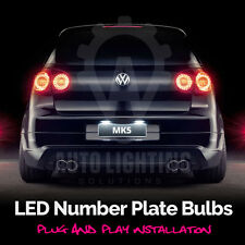 For VW Golf MK5 V TSI GTI TDI R32 LED 2003-2008 Number Plate Light Bulbs *SALE*