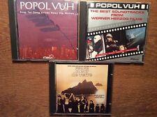 Popol Vuh [3 CD Alben] Best Werner Herzog + Sing for Song Drives+ Coeur de Verre