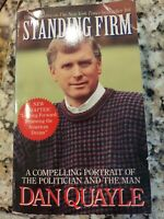 Standing Firm paperback book SIGNED by former US Vice President Dan Quayle