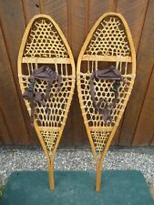 "NICE Pair SNOWSHOES 48"" Long x 13"" Wide GROS LOUIS  with Bindings READY TO USE"