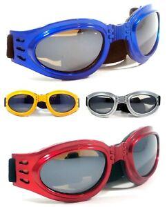 NWT Motorcycle Goggles ThunderRise Foldable Padded Anti Fog Lens Men Women Frame