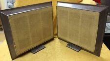 "Set Pair Zenith Home Sterio Table Speakers 8 OHM 2-2926 GA50-4J S912J 17"""