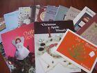 Cross Stitch Patterns and Book Lot of Thirteen Pet Free Smoke Free