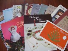Cross Stitch Patterns and Book Lot of Thirteen Pet Free Smoke Free