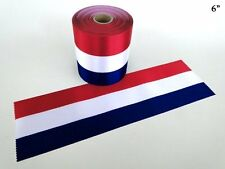 "6"" Wide RED/WHITE/BLUE Ceremonial Ribbon for Grand Opening Ceremony 5 Yds"