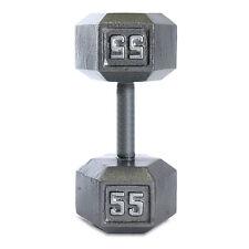 CAP Barbell 55 lb Grey Cast Iron Hex Dumbbell