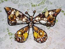 Gorgeous JOAN RIVERS Stone Collage BUTTERFLY Brooch w/Beautiful Stones NIB XMAS