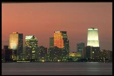 448022 Noche horizonte Miami A4 Foto Impresión