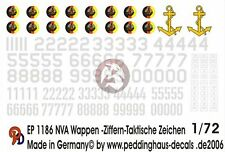 Peddinghaus 1/72 East German NVA Emblems, Numbers and Tactical Markings 1186