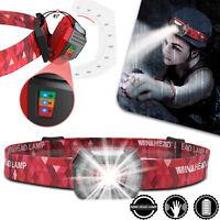 USB Rechargeable LED Headlamp Headlight Motion Sensor Torch Flashlight Band Camp