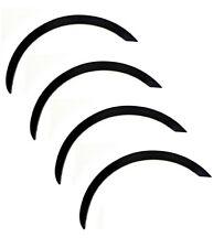NISSAN MICRA '92-03 K11 Radlauf Zierleisten Satz 4 Stück Vorne Hinten - SCHWARZ