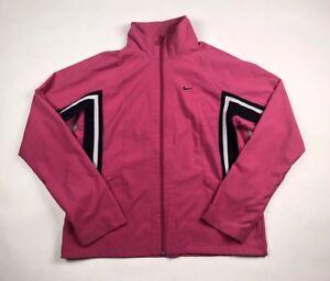 Nike Womens Sz Medium 8-10 Full Zip Workout Track Pink Jacket
