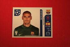 PANINI CHAMPIONS LEAGUE 2011/12 N 481 VALDES BARCELONA WITH BLACK BACK MINT!!