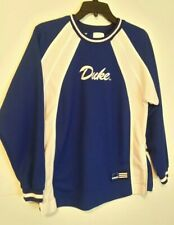 Duke University Blue Devils Long Sleeve Pullover Warm Up Jacket Mens Large NWOT