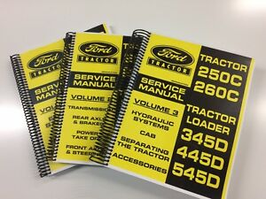 SERVICE MANUAL FOR FORD 250C 260C 345D 445D 545D TRACTOR LOADER REPAIR MANUAL