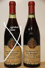 grand vin Bourgogne VOSNE-ROMANEE 1961 Les Beaumonts Thorin bouteille 75cl wine