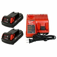 Milwaukee 48-59-1812 M12/M18 Battery charger & (2) 48-11-1815 18V 1.5Ah