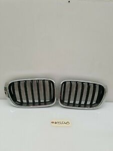 BMW F25 F26 Front Bumper Left And Right Kidney Grill 7338571 7338572 Set OEM