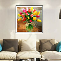 DIY Tulip 5D Diamond Embroidery Craft Painting Cross Stitch Mosaic Home DecorRDR