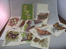 Vintage 1970 Russian Info Fact Card Set: Butterfly Butterflies бабочка бабочкц