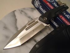 """Smith & Wesson Tanto Combat Hunter Knife 8Cr13MoV G10 Full Tang SWF604 Kydex 10"""""""