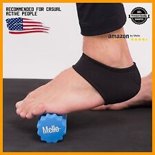 Plantar Fasciitis 2in1 Bundle By Mello-Foot Arch Support Wrap & Foam Roller Set