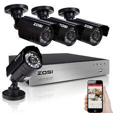 ZOSI HDMI 8CH DVR 720P AHD 1500TVL Security Cameras Outdoor IR Lens CCTV System