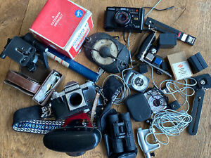 Job Lot Of Vintage Photography Cameras And Equipment