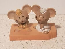 Vintage Plastic Mouse Mice and Cheese 3 Piece Set Salt and Pepper Shakers