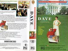 DAVE - Kline & Weaver - VHS - PAL - NEW - Never played! - Original Oz release