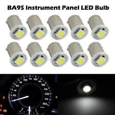 10x WHITE BA9S 1-SMD BULB For Ford LED DASH LIGHT INSTRUMENT CLUSTER GAUGES LAMP