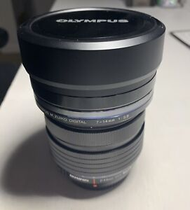 Olympus M.Zuiko Digital ED 7-14mm f/2.8 Pro Lens in 'as NEW' condition.