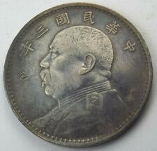 1914 Year 3 China Chinese Yuan Shih-kai Fat Man Dollar Chopmark Coin Y#329