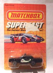 MJ7 Matchbox - 1985 Superfast - Mercury Police Car - Black - Haley's Comet